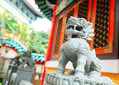 Chinese stone lion — Stock Photo
