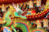 Chinese dragon on roof — Stock Photo