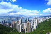 Hong kong skyline en stedelijke wolkenkrabber — Stockfoto