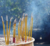 Incense stick in chinese temple — Stock Photo