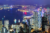 Hong Kong city night — Stock Photo
