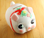 Chinese style piggy bank — Stock Photo