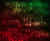 H7N9 avian flu bokeh background — Stock Photo
