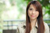 Mulher asiática ao ar livre — Fotografia Stock