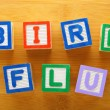 Stock Photo: H7N9 bird flu toy block