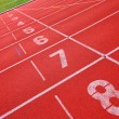 Stock Photo: Sport running track