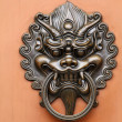 Lion door lock - Zdjcie stockowe