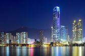 Building at night in Hong Kong — Stock Photo