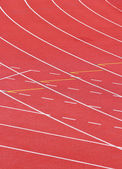 Sport running track — Stock Photo