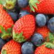 Strawberries and Blueberries mix — Stock Photo #24760543