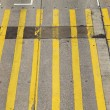 Stock Photo: Crosswalk line from above