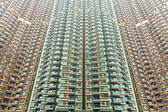 Over crowded apartment block in Hong Kong — Stock Photo