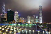Hong Kong city night view — Stock fotografie