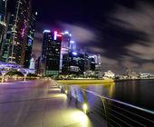 新加坡在晚上 — 图库照片