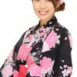 Japanese kimono woman — Stock Photo