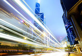 Traffic at night in a city — Stock Photo