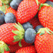 Strawberries and Blueberries mix — Stock Photo #25158331
