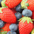 Strawberries and Blueberries mix — Stock Photo #25158335