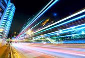 Car light trails in Hong Kong — Stock Photo