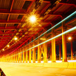 Stock Photo: Tunnel with car light