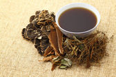 Chinese traditional herbs medicine drink — Stock Photo