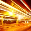 Stock Photo: City light trails on traffic road