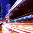 City light trails on traffic road — Stock Photo