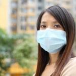 Asian woman wear face mask — Stock Photo #25486639