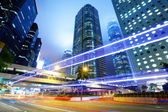 Hong Kong traffic at night — Stock Photo