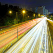 Stock Photo: Highway with heavy traffic