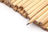 Heap of pencil with one sharpen — Stock Photo