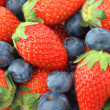 Strawberries and Blueberries mix — Stock Photo #26052285