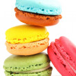 Colorful macaron on the plate — Stock Photo