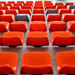 Royalty-Free Stock Photo: Red audience seat in stadium