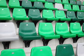 Sport arena seat in green color — Stock Photo