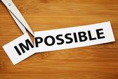 Niemożliwe lub możliwe — Zdjęcie stockowe