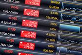 股票市场的经济衰退 — 图库照片