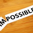 Impossible or possible — Stock Photo