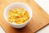 Corn flake in bowl — Stock Photo