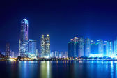 Tsuen wan west in Hong Kong at night — Stock Photo