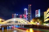 Singapur miasto nocą — Zdjęcie stockowe