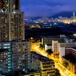Stock Photo: Kowloon city at night