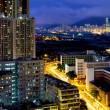 Kowloon city at night — Stock Photo