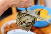 Rice dumpling close up — Stock Photo