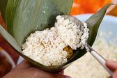 Homemade rice dumpling process — Foto de Stock