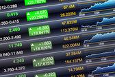 Erhöht preis bildschirm des aktienmarktes — Stockfoto