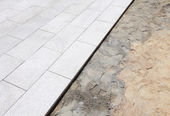 Unfinished outdoor paving stone — Stock Photo