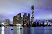 Kowloon at night in Hong Kong — Stock Photo