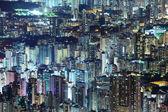 Affollato centro città edificio a hong kong — Foto Stock