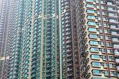 Buitenkant van residentiële gebouw in hong kong — Stockfoto